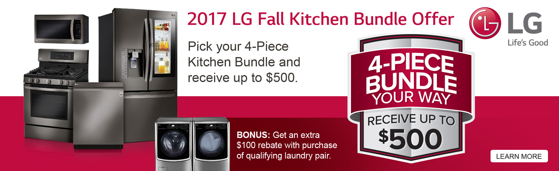 LG Fall Kitchen Bundle Offer- Save up to $500